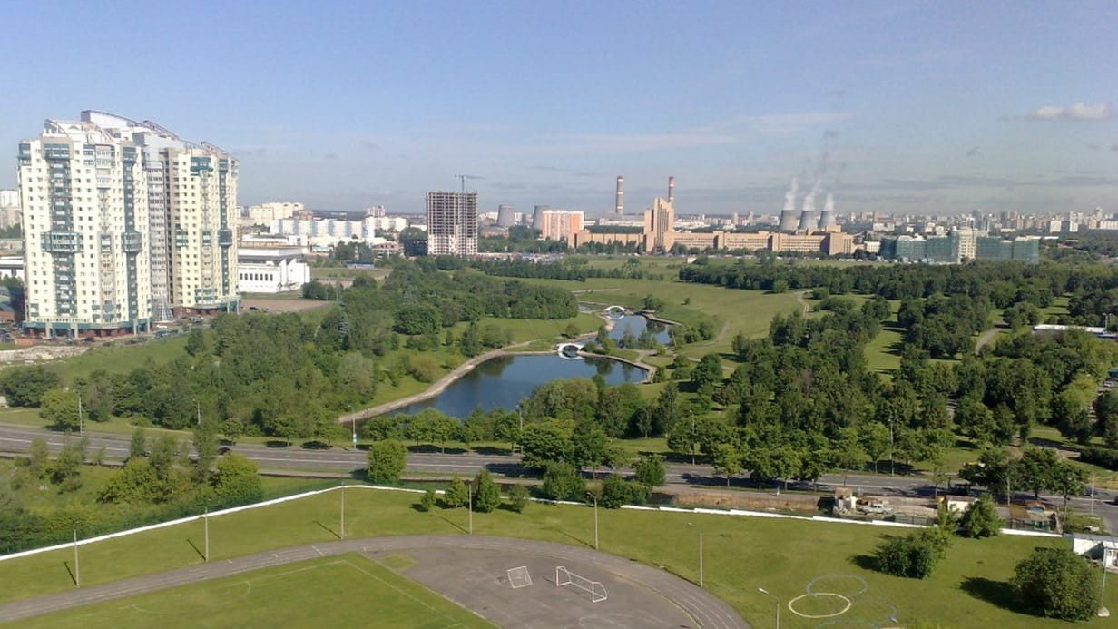 Вид на ТЭЦ-25 со стороны ЖК Лобачевский